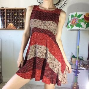 Free People Dresses - GIFTED Free People Red Flowy Summer Dress